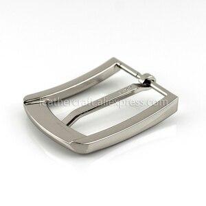 Image 4 - 1pcs 35mm Metal Plating Belt Buckle Men End Bar Heel Bar Single Pin Belt Half Buckle Leather Craft Belt Strap for 32 34mm Belt