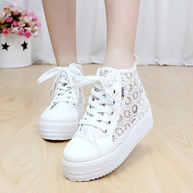 Summer Women Shoes Lace Women Creepers 2018 New Flat Platform Shoes Casual Female Shoes Fashion high top Lace-up Ladies Shoes 42 women creepers shoes 2015 summer breathable white gauze hollow platform shoes women fashion sandals x525 50