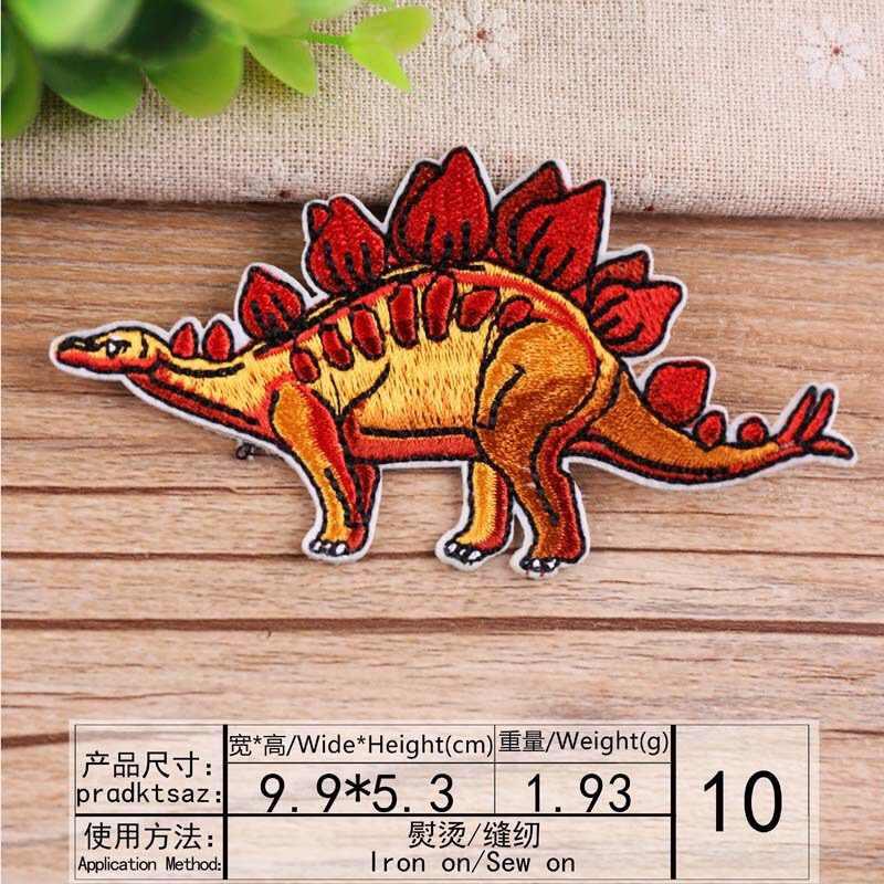 Дети Вышивка Цветы Пришивные патчи Железный на патч значок для ребенка шляпы одежда тканевая аппликация автомобиль динозавр мультфильм персонажи