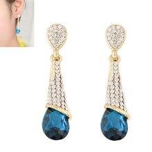 NANBO New jewellry Fashion Charm Drop Dangle Earring Blue Weddings Party earrings for Women Jewelry