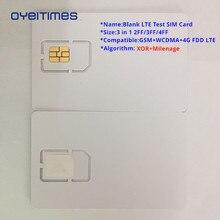 Oyeittimes 4G пустая LTE тестовая сим-карта поддержка Milenage и XOR алгоритмы тестовая сим-карта, мини, микро и нано размер тестовая сим-карта