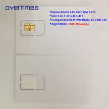 OYEITIMES 4G Blank LTE Test SIM Card Support Milenage And XOR Algorithms Card,Mini,Micro and Nano Size