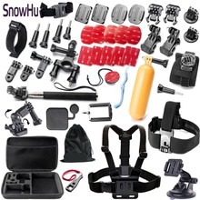 цена на SnowHu Gopro accessories set go pro kit mount SJ4000 hero 5S 5 4 3+  SJCAM M10 SJ5000 camera case xiaoyi chest tripod GS09