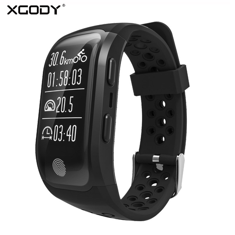 XGODY S908 Smart montre résistante à l'eau IP68 moniteur de fréquence cardiaque sedentary reminder Smart Sport Bande GPS Smartband Connecter IOS Android