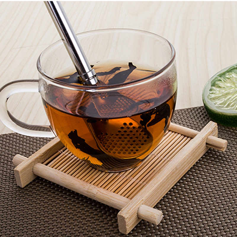 Eco-Friendly Stainless Steel Spoon Straws Tea Strainer Shaker Coffee Filter Spoons Tableware QP2