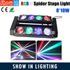 Hot Selling 100W 8pcs Rotation Sharp LED Spider Double Beam Light RGBW 4 IN 1 CREE