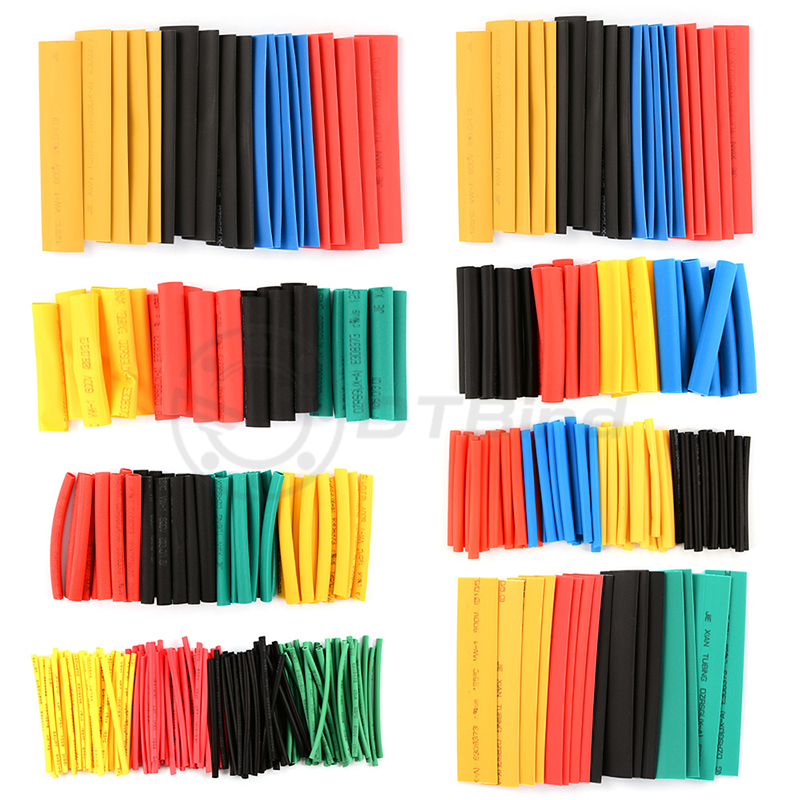 Image 2 - 328Pcs/Lot Polyolefin Assorted Heat Shrink Tubing Insulation Shrinkable Tube Wrap Wire Cable Multicolor Tools-in Tool Parts from Tools
