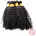 EVET Brazilian Afro Curly Wave Hair Weaves 1pcs Unprocessed Virgin Hair Weavings Kinky Curly Wave Hair Extensions 100g/pcs