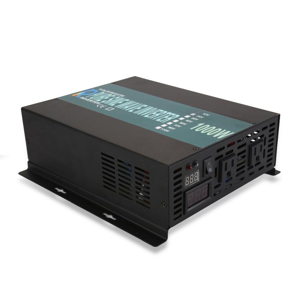 1000 Watt Off Grid Zuivere Sinus Omvormer 24 V 230 V Power Bank Omvormer Zonnepaneel DC Naar AC Converter 12 V/48 V Naar 120 V/220 V/240 V