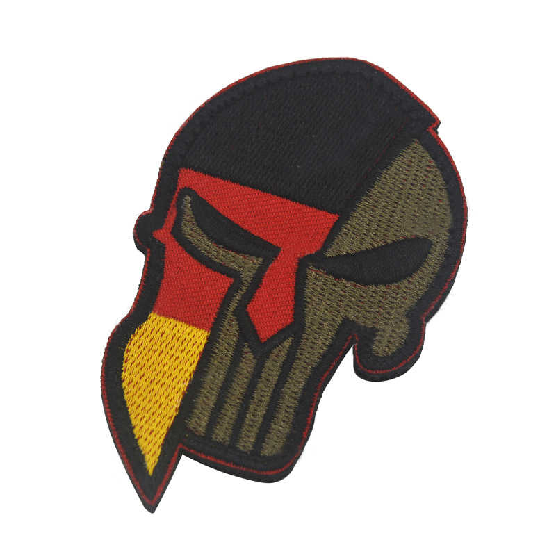 592bf3e7608e Molon Labe Punisher Spartan Morale Patches Tactical Chastiser Military  Embroidered Patch DIY For Clothing Hat Backpack Cap