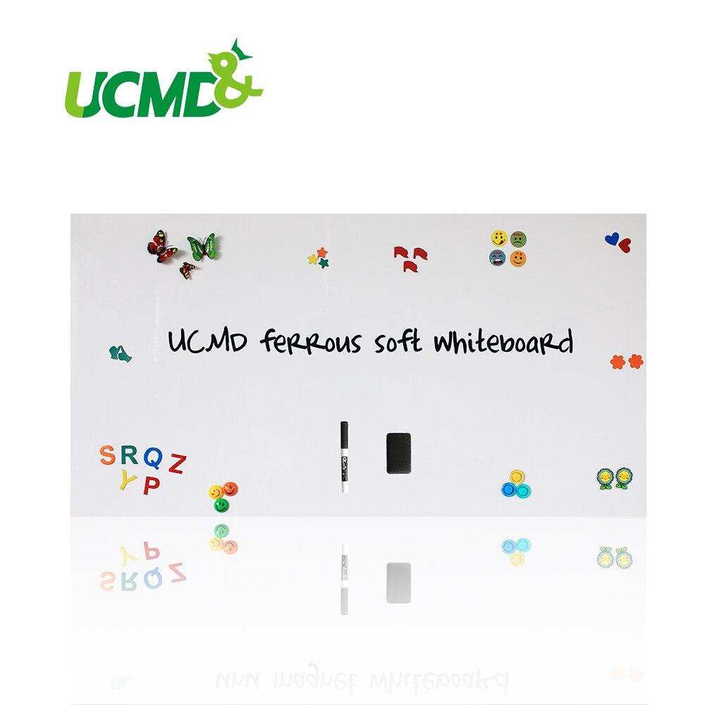 Babillard Mémo Pad Ferreux en caoutchouc blanc flexible blanc Feuille tableaux blancs pour Mur 150 cm x 100 cm x 0.3mm