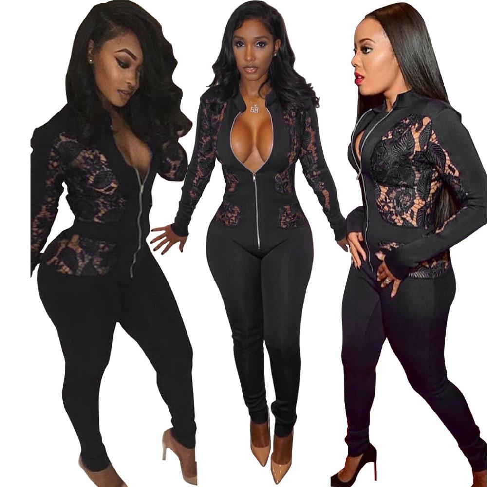 2017 Hot Koop 2017, Selling Nieuwe Europese En Amerikaanse Vrouwen Kleding, Fashion Kant Perspectief, Siamese Broek, Nachtkledij