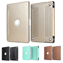 Edge Covered Armor Series PU Leather Case Cover for MacBook 12 inch Air 11 13 inch Pro 13 15 inch Pro retina 13 15 inch