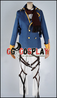 Free Shipping Cosplay Costume Attack on Titan Shingeki no Kyojin Mikasa Ackerman New in Stock Retail / Wholesale