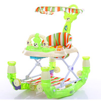 Toddler Multifunction Walker with Toys Pu Cushion Babywalker 6 18 Months Children Anti rollover Push Can Take Baby Wakler