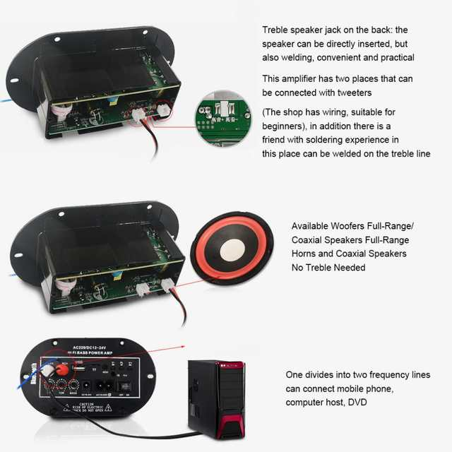 8 Inch 25W HIFI Bluetooth Car Audio Power Amplifier FM Stereo Radio Player  Support SD USB DVD MP3 Input for Auto Motorcycle Home on Aliexpress com |