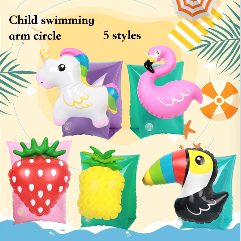 2-7 Year Old Kids Child Baby Arm Swimming Ring Child Inflatable Swim Pool  Safety Training Swimming Arm Circle Float Ring
