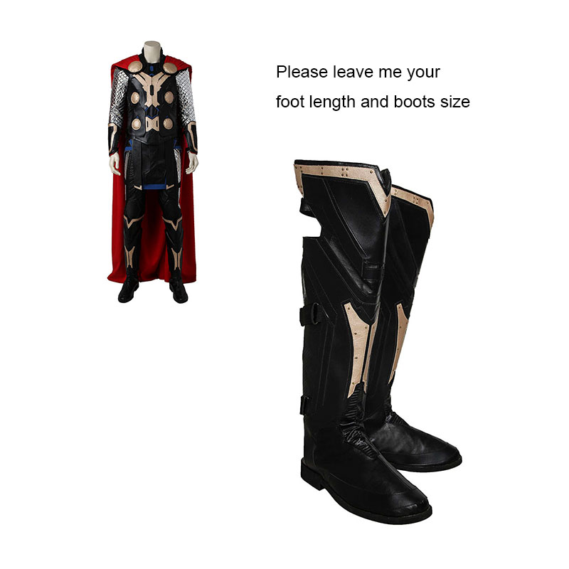 Avengers Age of Ultron Cosplay Shoes Superhero Thor Cosplay Boots Adult Men Movie Hero Cosplay Costume Accessories Custom Made movie age of ultron hero 10 assemble figure free shipping