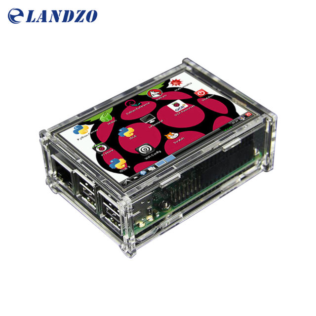 "3.5 inch display 3.5 ""LCD TFT Touchscreen Display voor Raspberry Pi 2/Raspberry Pi 3 Model B Board + Acryl Case + Stylus"