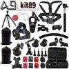 GoPro Go Pro Accessories Set For Gopro Hero 4 3 3 2 Sjcam SJ4000 SJ5000 SJ6000