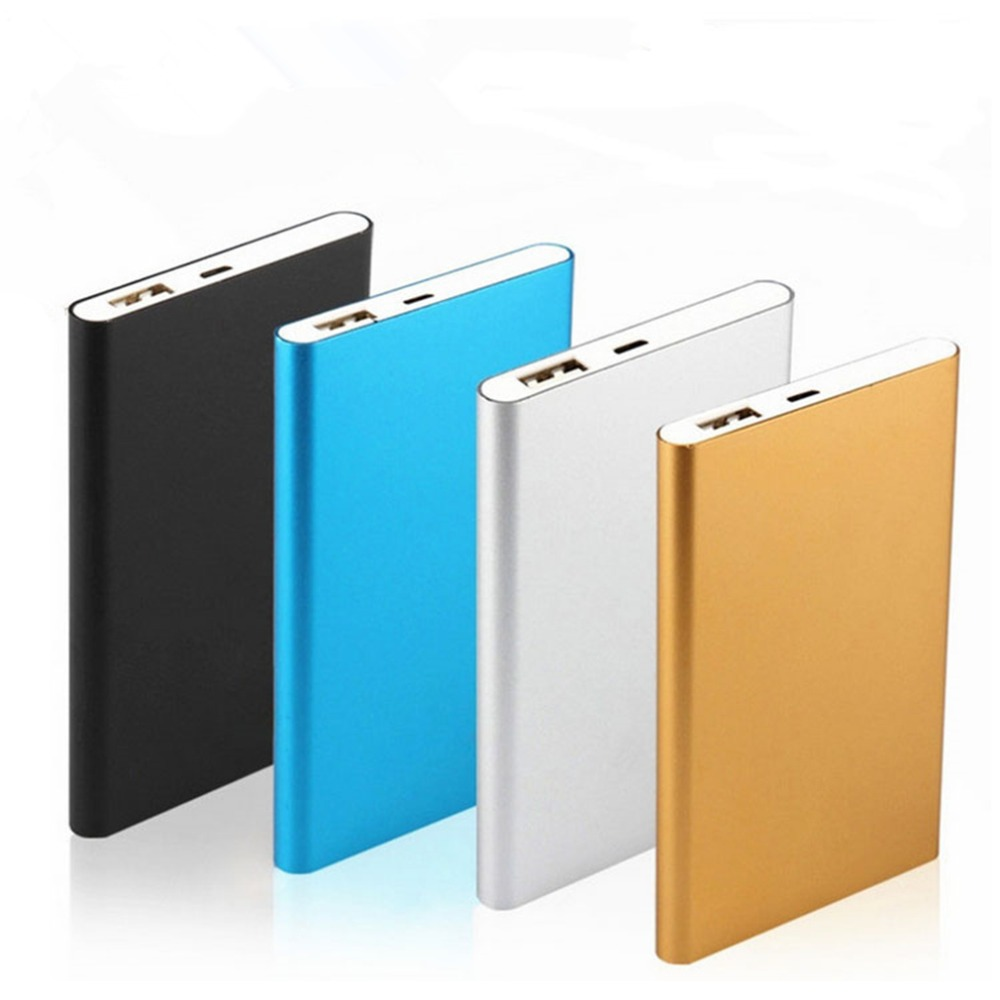 New Ultra Slim 10000mah Power Bank External Battery 0.5cm Thin Portable USB Charger Powerbank Power Supply for Mobile Phone