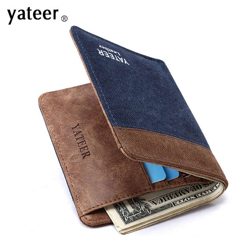 Vintage Canvas wallets men quality assurance man purse carteira masculina best gift for boyfriend husband retro purses