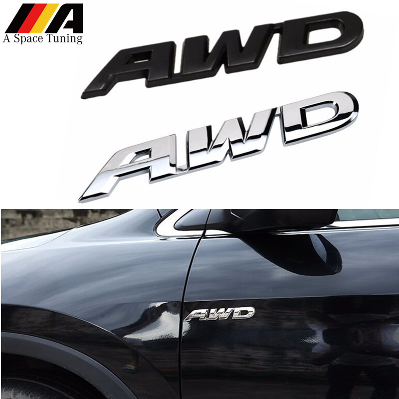 2PCS Chrome LIMITED Metal Badge Emblem Sticker Sport v6 4wd Racing awd suv Motor
