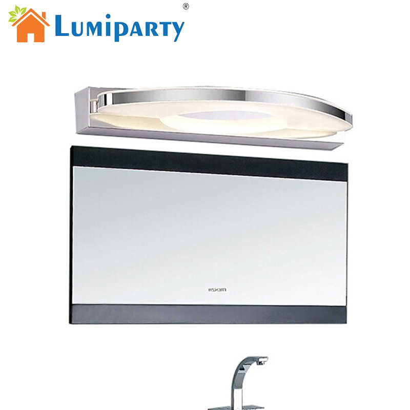 LumiParty New Modern LED Mirror Front Light Waterproof anti-fog LED Night Lamp 12W 54CM white light stainless steel