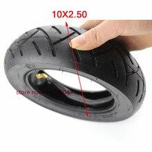 Neumático de 10 pulgadas para patinete eléctrico, llanta inflable de 10x2,50 para bicicleta, con tubo interno