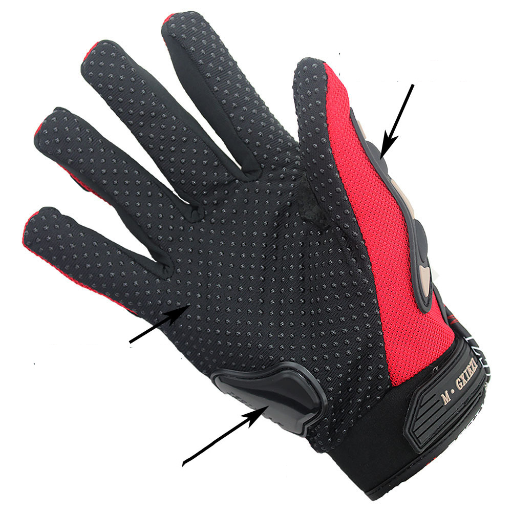 Image 5 - Breathable Gloves Leather Gloves Motorcycle Gloves Driving Road Bike Protective Gloves for Men-in Riding Gloves from Sports & Entertainment