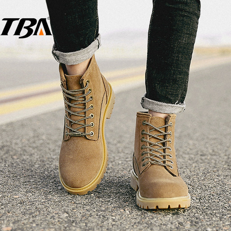TBA Winter Men's Sneakers outdoor Mountain Hiking Shoes Men Tactical Boots Waterproof Leather Men's Sport Shoes Trekking Sneaker 2017 tba men s shoes hunting mountain shoes lace up suede leather martin boots breathable outdoor hiking shoes t5983