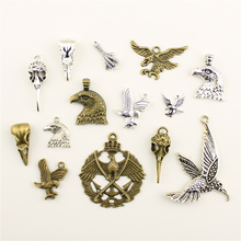 Charms For Jewelry Making Eagle Bird Mouth Skeleton Claws  Accessories Parts Creative Handmade Birthday Gifts