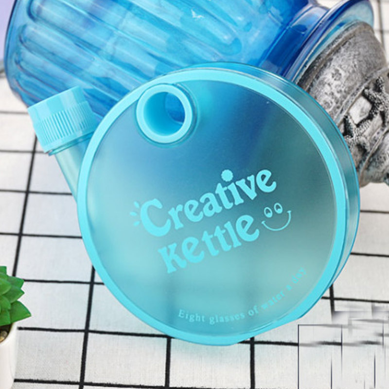 Beautiful Water Bottle Gift Portable 350ML Round Flat Plastic Student Movement Sports Kettle Drinkware LXY9 MY1218
