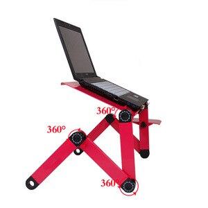 Image 4 - Регулируемый портативный эргономичный складной компьютерный стол из сплава, складной настольный поднос с ковриком для мыши для коммерческих целей