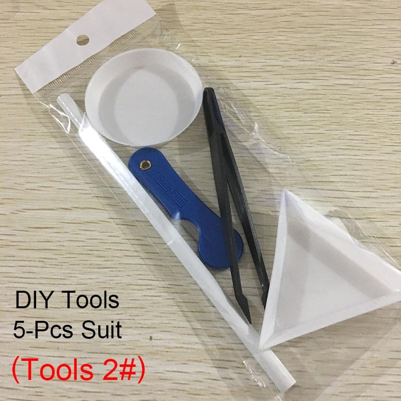 30/100 шт./лот ногтей Стразы 3x5 мм Flatback ромб с цветными камнями для 3D нейл-арта украшения - Цвет: Tools 2
