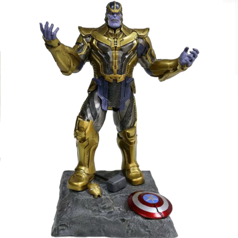 Single Sale 41 cm Iron Man Series Movie Thanos Resin Action Figure Kids Adults Collectible Toys Garage Kit Toy Movie Character the garage kit resin kit of weeping angels doctor who action figure gift toys mini figures