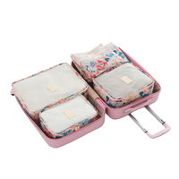 6Pcs Travel Set Bags Packing Cube Portable Clothing Underwear Sorting Organizer Pouch Luggage Case Accessories Supplies
