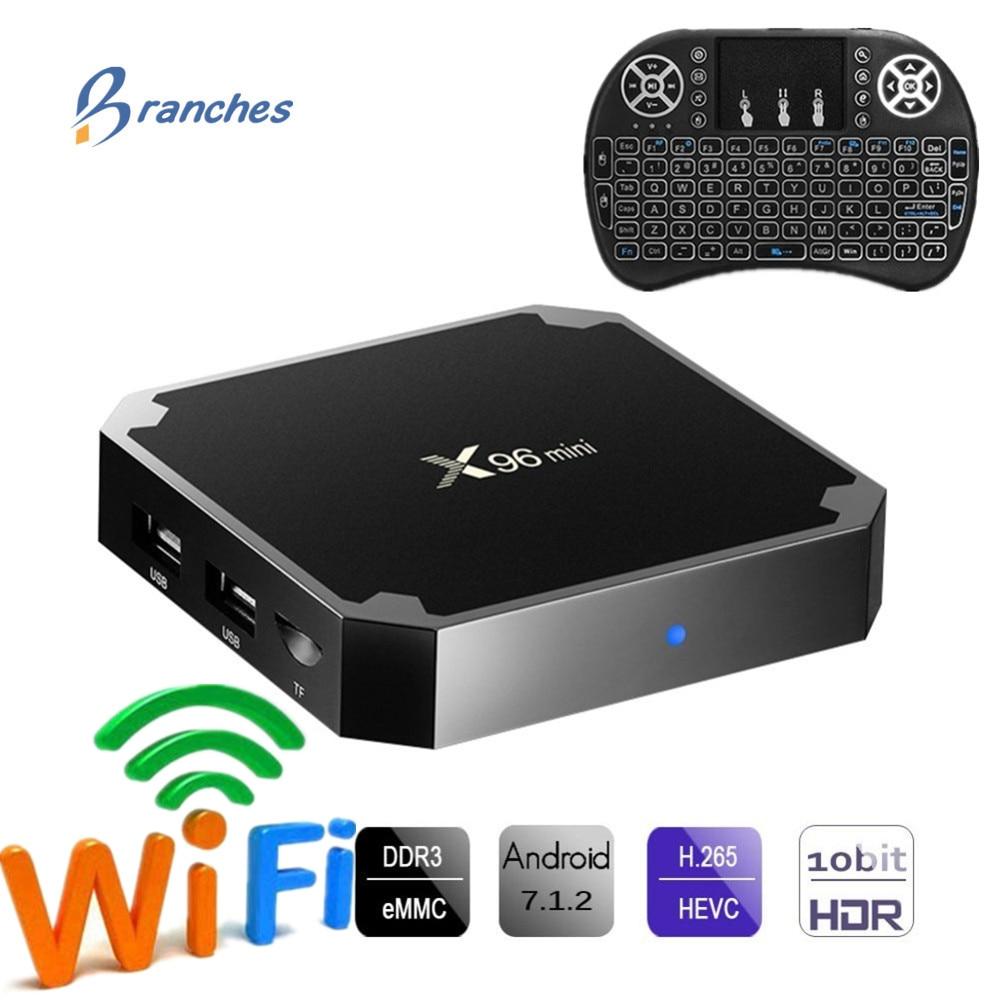 X96 mini tvbox Android 7,1 TV BOX 2 GB 16 GB Amlogic S905W Quad Core 2,4 GHz WiFi Media Player 1 GB 8 GB X96mini Set-top Box