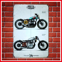 Fashion Vintage Motorcycles Metal Signs Home Decor Vintage Tin Signs Pub Vintage Decorative Plates Metal Wall Art Hot