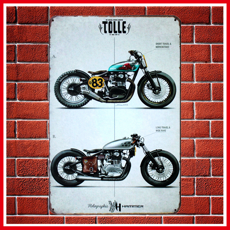 Fashion Vintage Motorcycles Metal Signs Home Decor Vintage Tin Signs ...