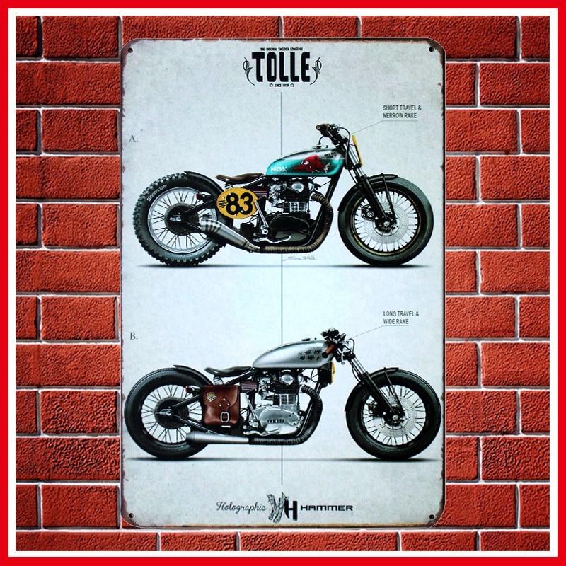 Fashion Vintage Motorcycles Metal Signs Home Decor Vintage Tin Signs Pub Vintage Decorative Plates Metal Wall Art Hot
