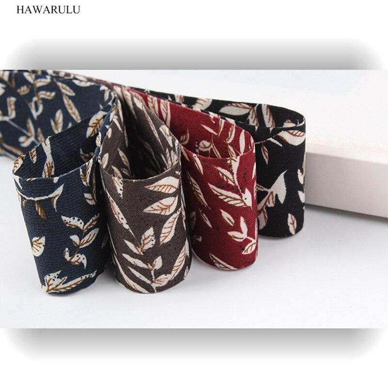 HAWARULU 1pcs 50yards DIY Woven ribbon imported broken flower ribbon Christmas gift box packaging greeting card bowknot bow tie