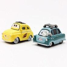 2pcsset pixar cars 2 cute mini professor z luigi metal diecast toy car 155 cartoon movie pixar cars metal toys for kids