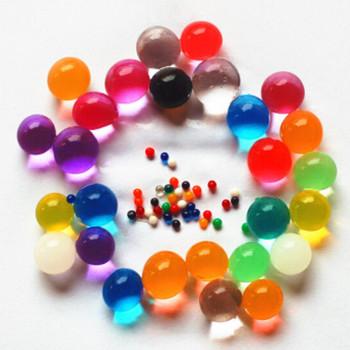 1000 sztuk wystrój domu w kształcie perły kryształowe gleby hydrożel koraliki z polimeru wody Bio Gel Ball ślub błoto rosną magiczne galaretki balls9ZSH760 tanie i dobre opinie CN (pochodzenie) SH760-1 Sztuczne kwiaty Other Pręcik New Year Z żywicy Crystal Soil growing water balls Pearl Shaped Crystal Mud