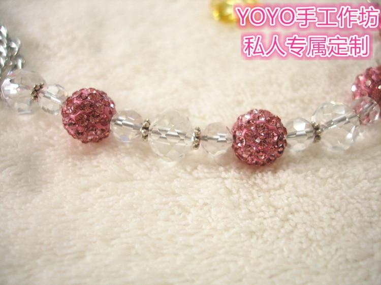MIYOCAR Bedøvelse Prinsesse pink bling krystal håndlavet pacifier - Fodring et barn - Foto 3