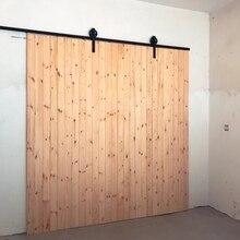 Rueda Industrial de Estilo Vintage ruso, juego de pista de Hardware de puerta de madera de Granero deslizante individual en forma de J con rodillos grandes para una sola puerta