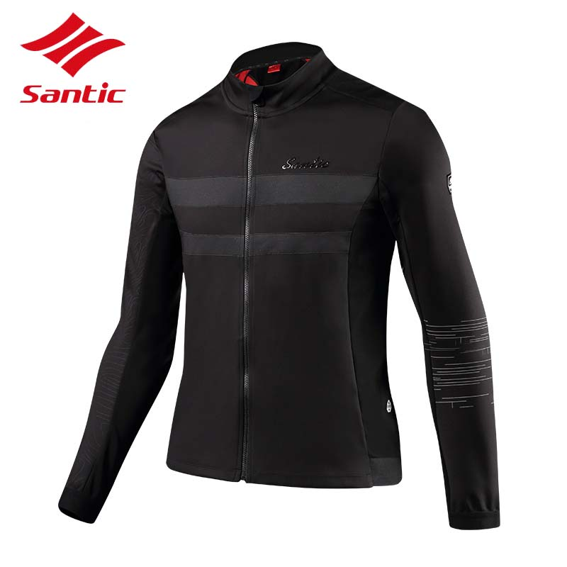 Santic Cycling Jacket 2018 Winter Men Warm Mountain Bike Bicycle Jersey Jacket Cycling Clothing Wind Coat Chaquetas De Ciclismo santic men s cycling hooded jerseys rainproof waterproof bicycle bike rain coat raincoat with removable hat for outdoor riding