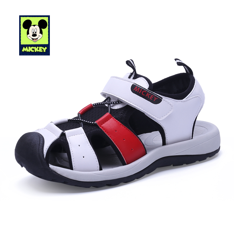 Disney Shoes Sandals Boys Shoes Summer Mickey Boys Girls Childrens Hook Loop Breathable Fashionable Shoes For Kid Size 26-37Disney Shoes Sandals Boys Shoes Summer Mickey Boys Girls Childrens Hook Loop Breathable Fashionable Shoes For Kid Size 26-37
