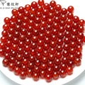 New Arrivals Natural jade A cargo beads round beads 4mm-14mm Myanmar genuine ice oil agate red beads jewelry 20 piece
