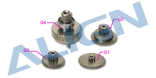 Align Trex DS655 Servo Gear Set HSP65502 Trex Spare Parts  Free Shipping with Tracking align trex 550e three tail blade set h55t005xxw trex 550 spare parts free shipping with tracking